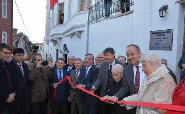 Bediüzzaman Said Nursi Kültür Evi açıldı
