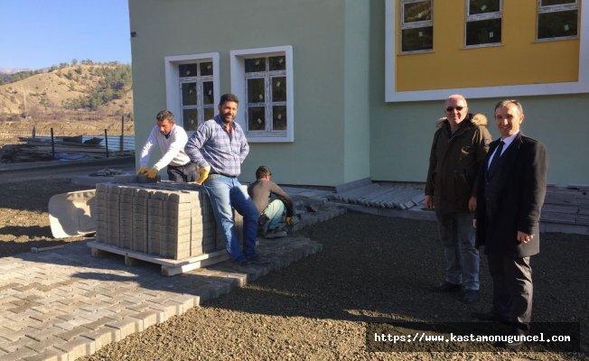Hanönü'de ortaokul inşaatı çalışmaları