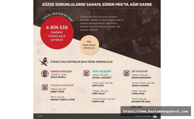 Sözde sorumlularını sahaya süren PKK'ya ağır darbe