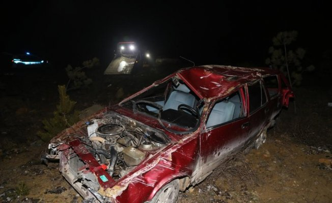 Kastamonu'da otomobil devrildi: 2 yaralı