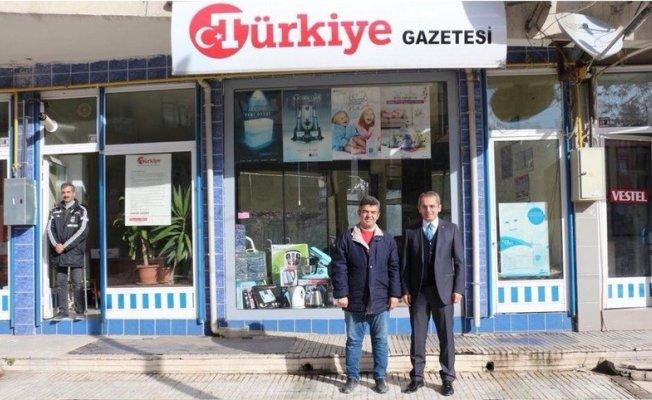 Kaymakam Pişkin, Türkiye Gazetesi Temsilciliğini ziyaret etti